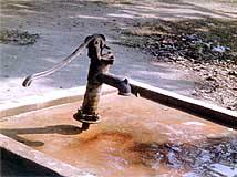 An IHO-installed water pump