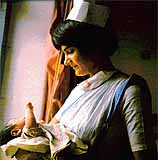 Nurse from IHO's Maternal & Child Health Project