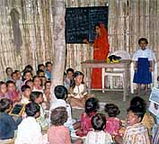 Classroom activities at the Harijan School