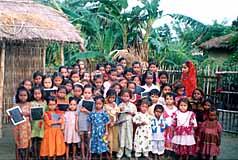 Young girls at the Harijan School