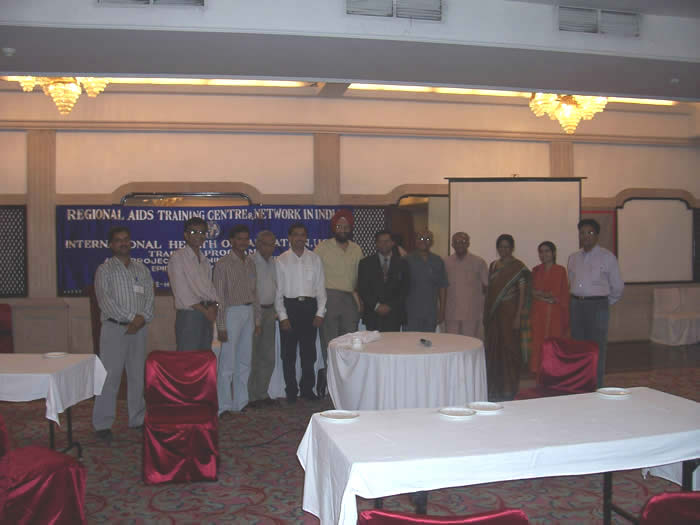 IHO staff and RATNEI participants at Hotel Maurya training site