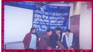 Dr. Diwakar Tejaswi, Medical Director RATNEI, Resource persons Ms. Namita Pathak & Ms. Mamta Sharma inaugurating level-III training program